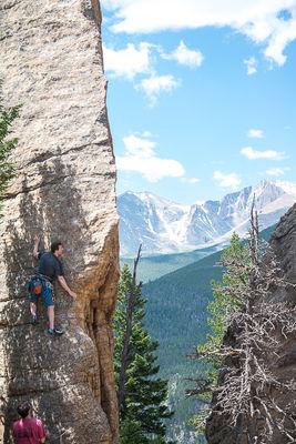 climbing, Edge of Time, Lily Lake, Estes Park Valley, Colorado Front Range