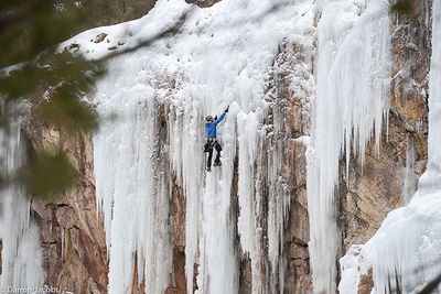 Ice Climber, Dead Ringer WI5, Five Fingers area, Ouray Ice Park, Colorado