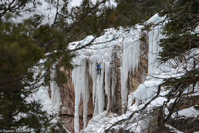 Five Fingers area, Ouray ice Park, Dead Ringer