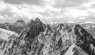Kismet Peak, Lavender Col, Mount Sneffels range, San Juan Mountains, Colorado, fine art, PlexiPlaq, Limited Edition