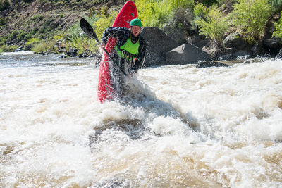 Aren Rane, Whitewater, Kayaking, Racecourse, Rio Grande River Gorge, New Mexico, ender trick, Santa Fe Workshops, Adventure Photography Workshop, Michael Clark.