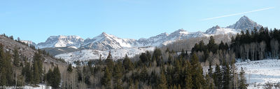 Mount Sneffels Range, Blue Lakes Road, County Road 5, Ridgeway, Colorado,