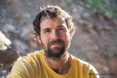 Aaron Miller's Climbing Portrait, Diablo Canyon, New Mexico