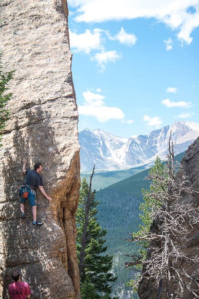Jeff climbing the Edge of Time