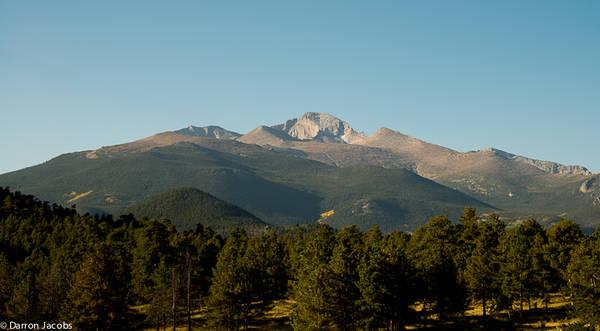 Longs Peak in the Early Sun