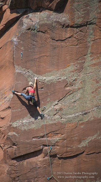 Alyse Dietel on Thunder Monster 5.13a , Frying Pan, The Skillet, Hagerman Pass, Colorado