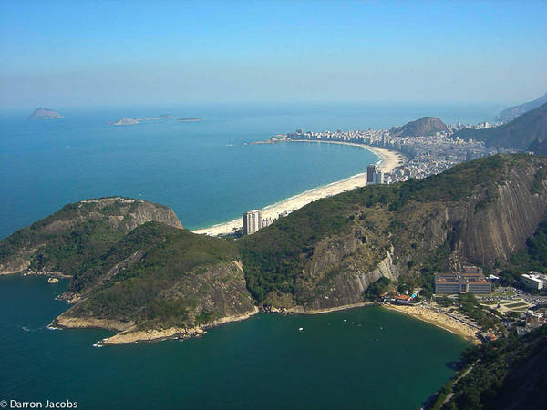 View of Copacabana Beach from Sugar Loaf