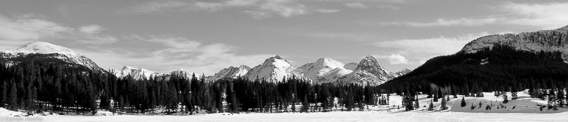 Needle Mountains from Molass Lake