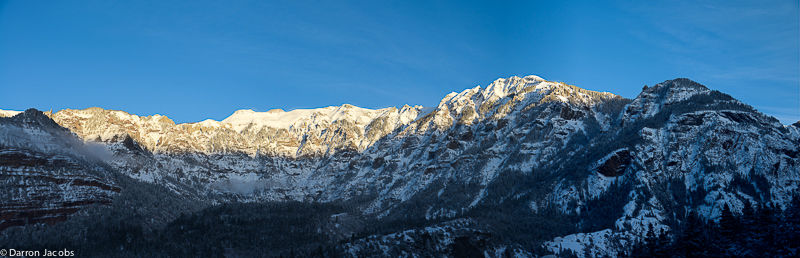 Mountains above Ouray Amphitheater
