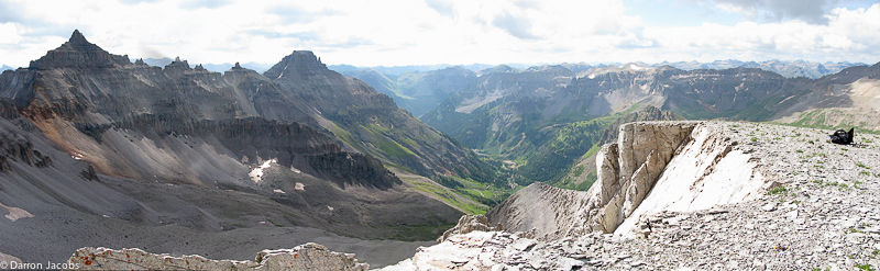 The View from top of Cirque Peak