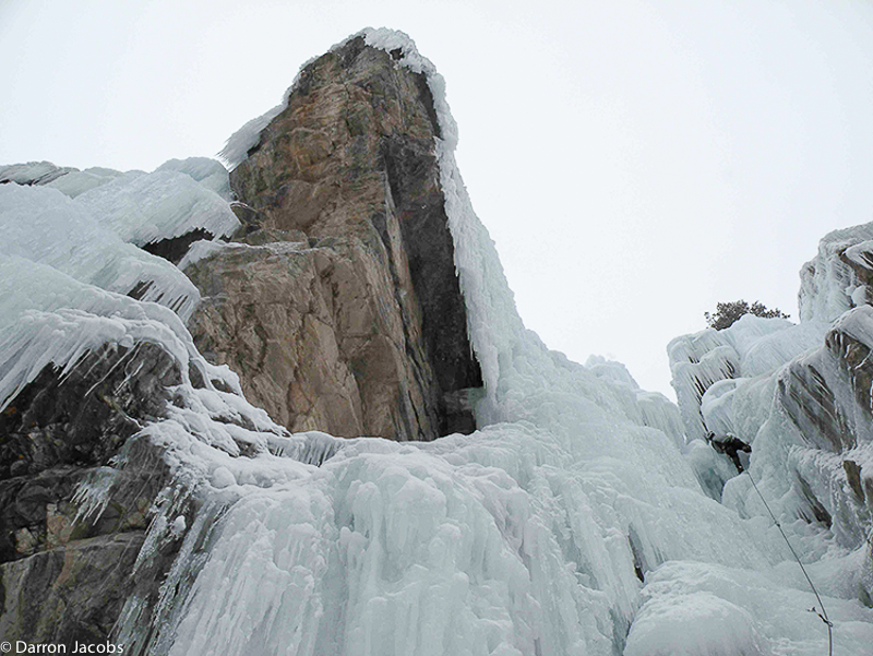 By Gully WI2/3 30m, Scottish Gullies area Ouray Ice Park, Colorado, Bean Powers, San Juan Mountain Guides, Uncompahgre Gorge, , photo