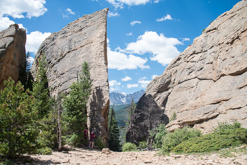 The Edge of Time, **** classic, 5.9, sport rock climb, Lily Lake Estes Park Valley in Colorado Front Range, photo