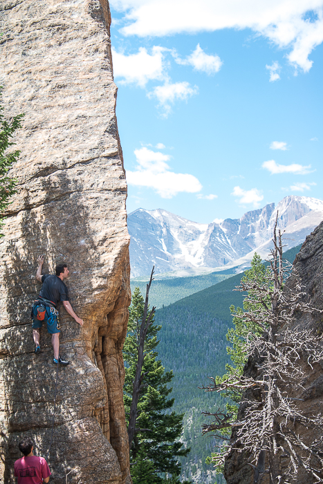 climbing, Edge of Time, Lily Lake, Estes Park Valley, Colorado Front Range, photo