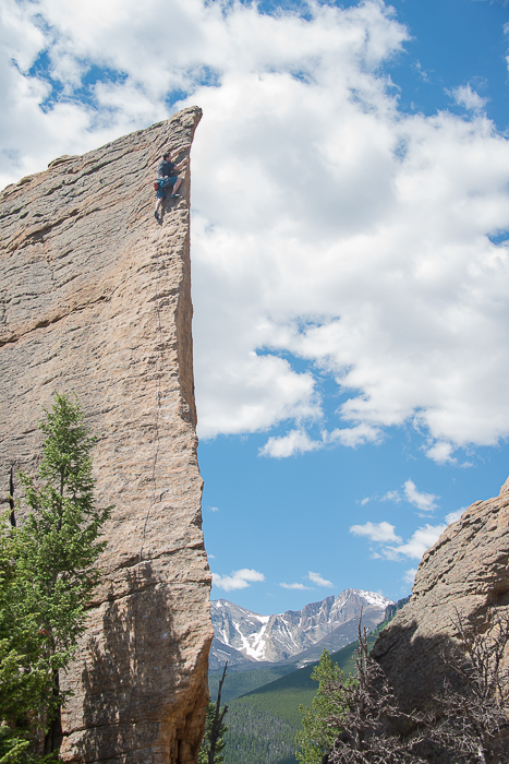 topping out,  Edge of Time, Lily Lake, Estes Park Valley, Colorado Front Range, photo