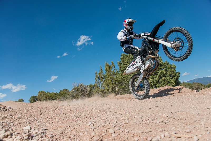 Danile Coriz, Wheelie, Santa Fe Motocross Track, New Mexico, Santa Fe Workshops, Adventure Photography Workshop, Michael Clark., photo